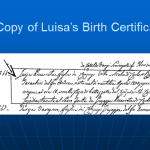 Luisa's Birth Certificate