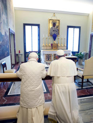 Pope Francis and Pope Benedict 6