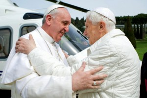 Pope Francis and Pope Benedit 1