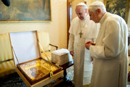 Pope Francis and Pope Benedict 3