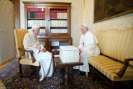 Pope Francis and Pope Benedict 4