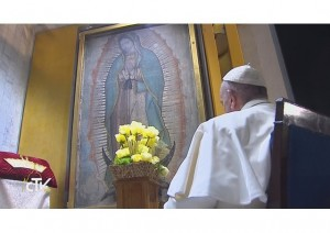 Pope Francis crowning of Our Lady of Guadalupe